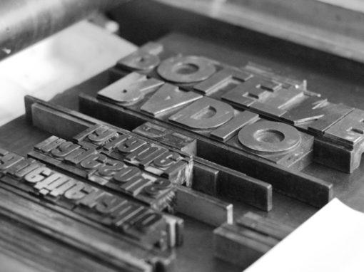 Créations Typographiques <br>l'Atelier à l'Envers