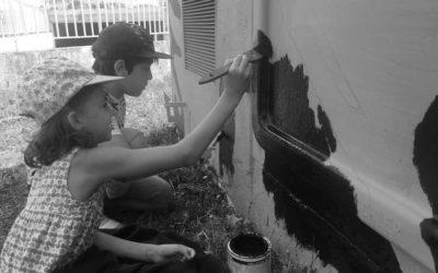 Fresque Melting Paint